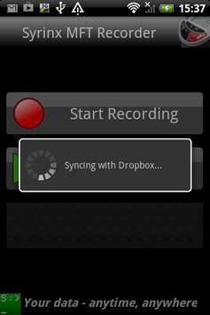 Syrinx MFT Recorder apk screenshot