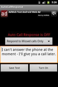 Auto Call Response apk screenshot