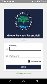 Grove Park W4 ParentMail poster