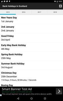 Bank Holidays In Scotland apk screenshot
