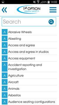 1st Option Media Safety App poster