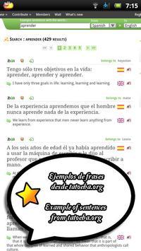 Word up! English-Spanish apk screenshot