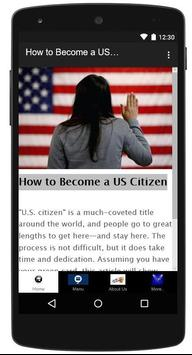 How to Become a U.S. Citizen poster