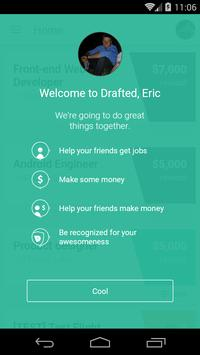 Drafted - job referral rewards poster