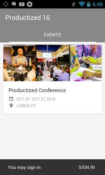 Productized Conference 2016 apk screenshot