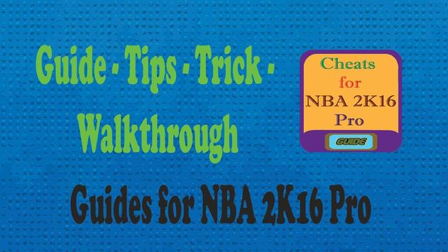 Cheats for NBA 2K16 Pro guide poster