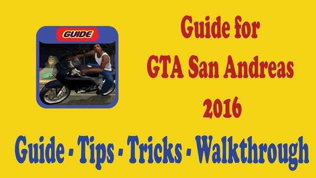 Guide for GTA San Andreas 2016 poster