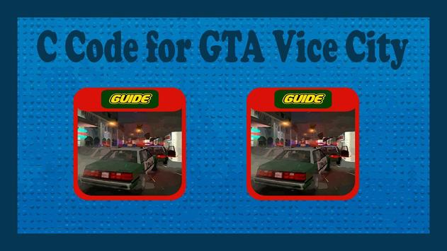CC Code for GTA Vice City poster