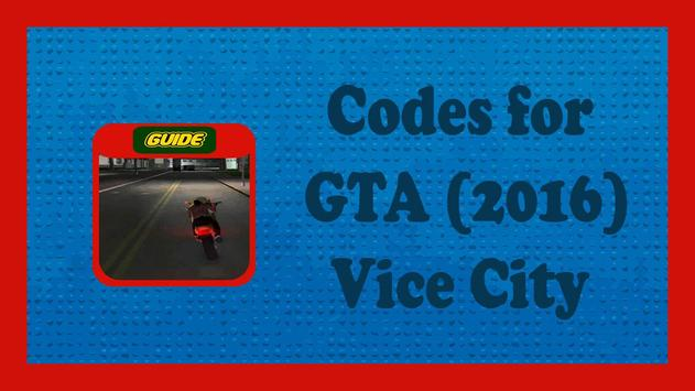 Codes for GTA Vice City (2016) poster