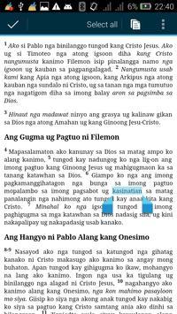 Cebuano Bible + Commentary apk screenshot