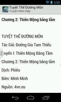 Tuyet The Duong Mon apk screenshot