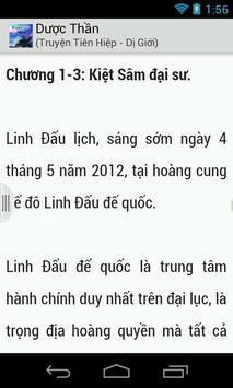 Duoc Than - Truyen Tien Hiep apk screenshot