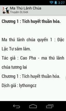 Ma Thu Lanh Chua - Tien hiep apk screenshot