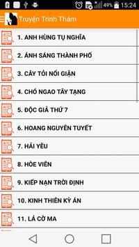 Truyen Trinh Tham Hay Tong Hop apk screenshot