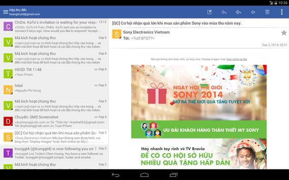 mCA Mail apk screenshot