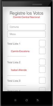 Votacion PS 2015 apk screenshot
