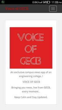 Voice of GECB poster