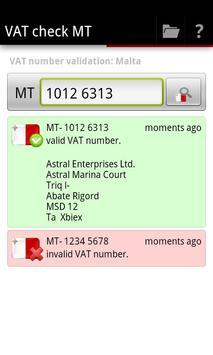 VAT check MT apk screenshot