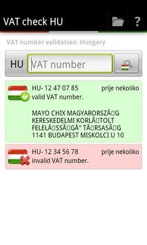 VAT check HU apk screenshot