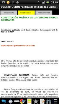 Leyes Federales de México apk screenshot