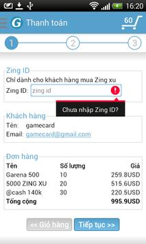 Gamecard apk screenshot