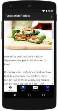 Vegetarian Recipes poster