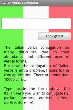 Italian verbs conjugator poster
