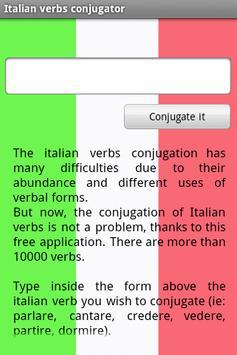 Italian verbs conjugator apk screenshot