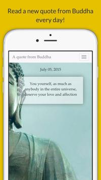 A quote from Buddha poster