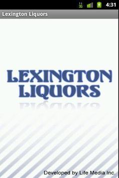 Lexington Liquor poster