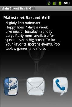 Main Street Bar & Grill apk screenshot
