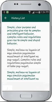 English Tagalog Translate apk screenshot