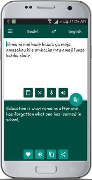 English Swahili Translate apk screenshot