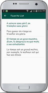 French Spanish Translate apk screenshot