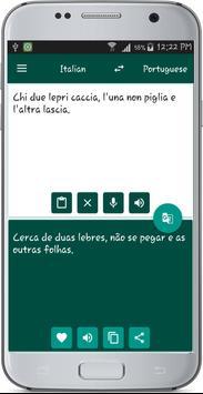 Italian Portuguese Translate apk screenshot