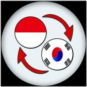 Indonesian korean Translate icon