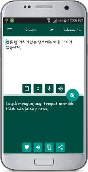 Indonesian korean Translate apk screenshot
