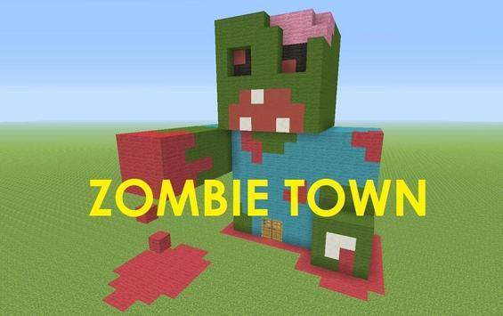 ZombieTown Minecraft PE poster