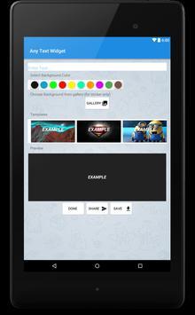 Any Text Widget-Text Stickers apk screenshot