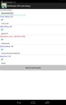 Multitrack GPS SMS Setup Tool apk screenshot