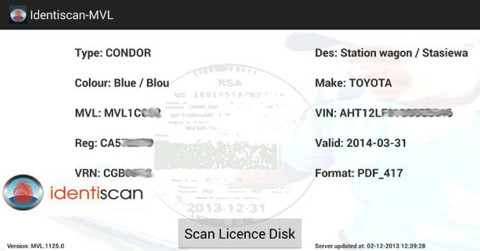 Identiscan - MVLogger apk screenshot