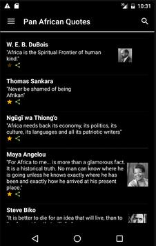Pan African Quotes apk screenshot