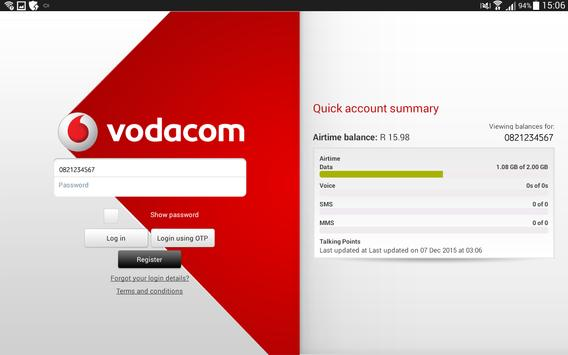 My Vodacom App For Tablets apk screenshot