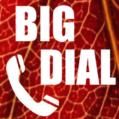 Big Phone Dialer & Contacts icon