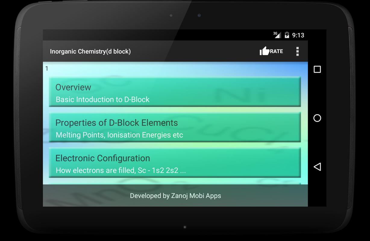 inorganic chemistry d block apk education app for inorganic chemistry d block apk screenshot