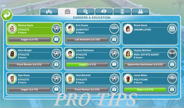 New Tips THE SIMS FREE PLAY apk screenshot