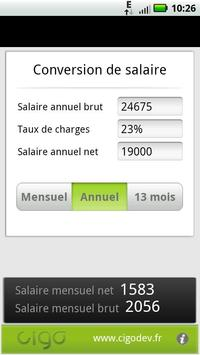 Salaire BrutNet apk screenshot