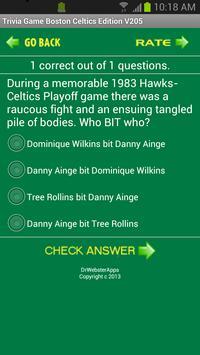 Trivia Game Boston Celtics Ed screenshot 5