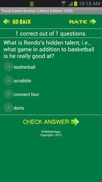 Trivia Game Boston Celtics Ed screenshot 2