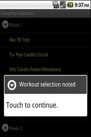Insanity Workout Schedule for Android - APK Download